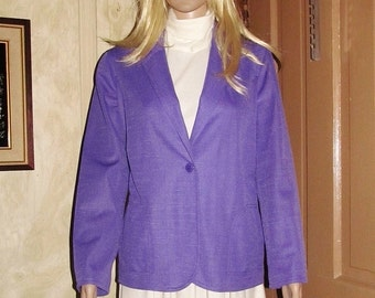 60s/70s/WOMAN/BLAZER/JACKET/ Vintage/Lavender/Purple/Mad Men/Mod/ Casual/Long Sleeve/Small/Medium/ Office/Fall/Fashion/Clothing/Outerwear