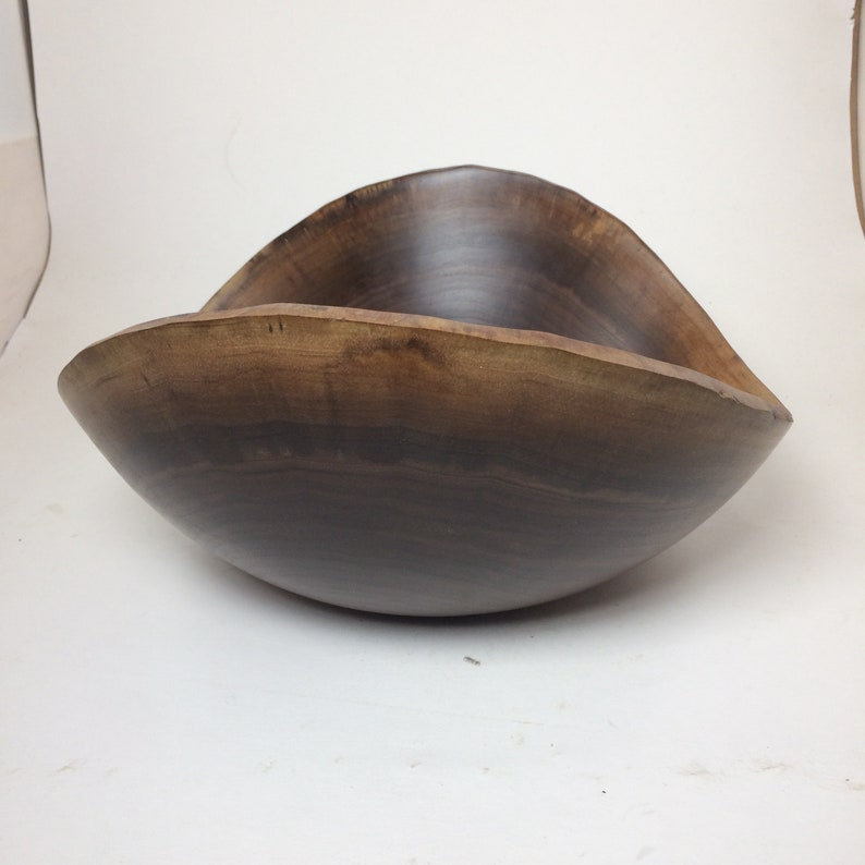 20 13.25x11.25x5.75 Natural Edge Walnut Bowl
