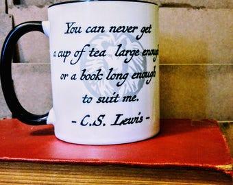 C.S. Lewis on Tea and Books Mug