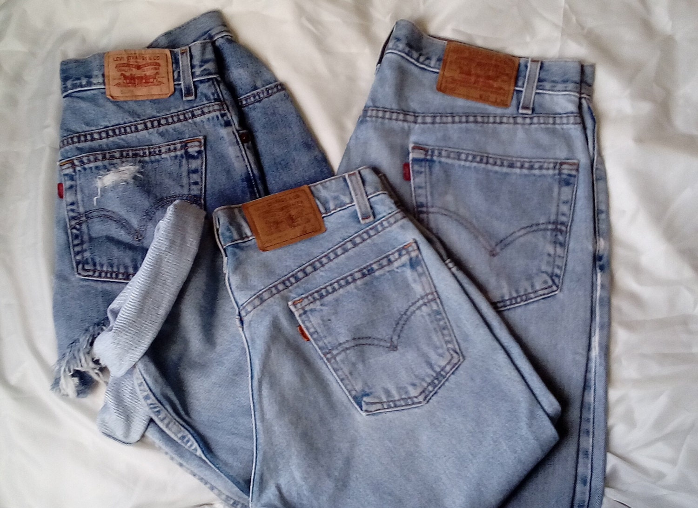 Sale Lot Bulk Wholesale 3 Vintage Levi s Jeans Relaxed Mom  a2317102d4913