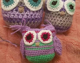 Crochet owls, made to order!