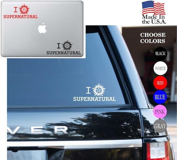 I love supernatural Anti-Possession Symbol Fanatics Car Sticker Vinyl Decal