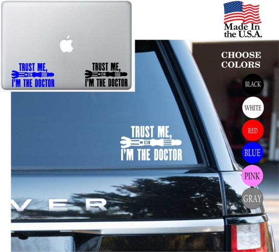 Doctor Who Tardis Decal Vinyl Car Window Sticker ANY SIZE FREE SHIPPING