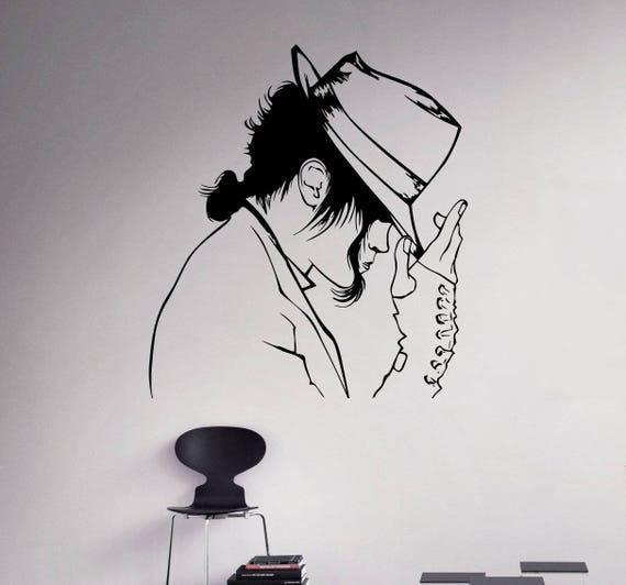 Michael Jackson Mit Hut Wandtattoo Aufkleber Für Wohnkultur Für Auto Laptop