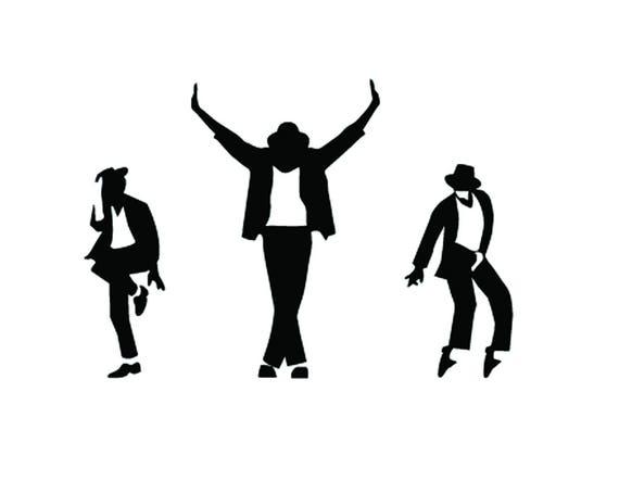 3 Michael Jackson Tanzen Leben Vinyl Art Wand Aufkleber Home Dekor Aufkleber Wandbild König