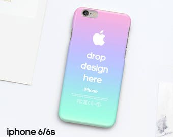 iphone 6 6s case cover mockup photoshop template realistic photo
