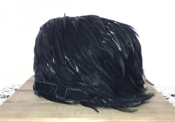 Black Feather Hat, 1950's