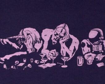Funny Best Friends Graphic Tee, Womens Gift, Friends Gift, Unicorn Bigfoot Astronaut, Womens Screen Print Cotton Tshirt