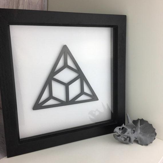 Monochrome Triangle Illusion Home Decor 3D Printed Box Frame   Etsy