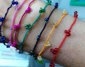 Crochet bracelet zoownatas fine crochet with beads