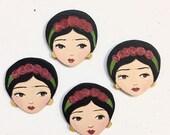 Statement earrings, Mexican flower girl, feminist, Zoownatas