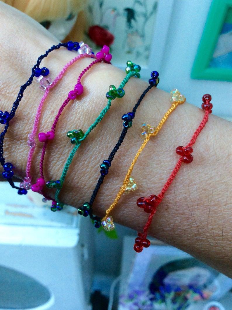 Crochet bracelet zoownatas fine crocheting with beads image 0