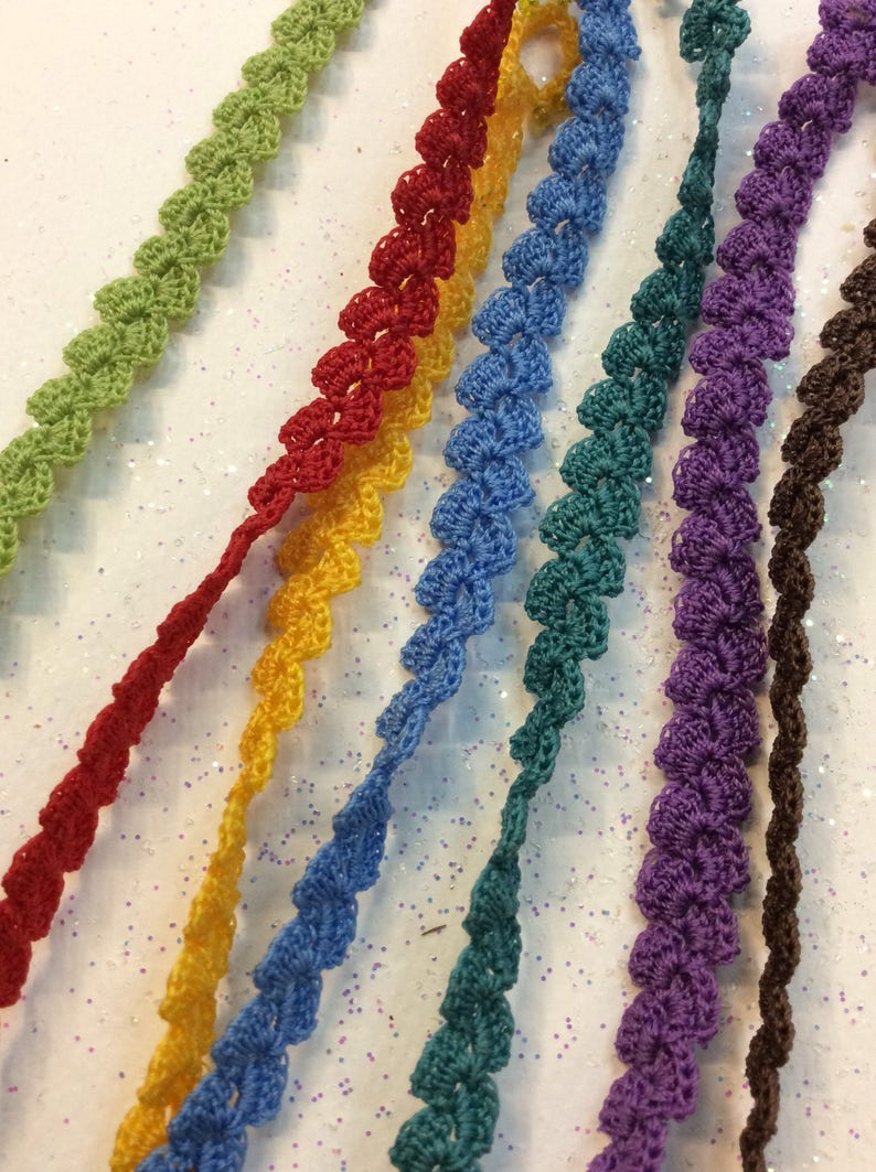 With thin yarn crochet bracelet in lots of colors. Zoownatas image 0
