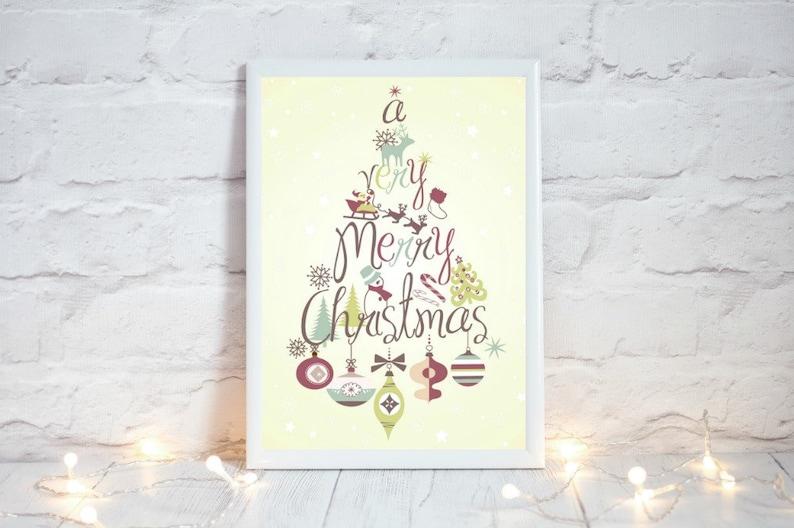 Retro Christmas Decorations Farmhouse Christmas Decor image 0