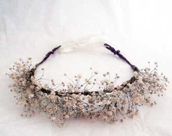 146b11652b7 Babys breath flower crown - J T accessories - hair accessory for bride