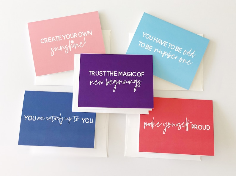 Inspirational Cards / Encouragement Cards / Inspirational Cards / Greeting  Card / Graduation Card / Friendship Card / Card for Girlfriend
