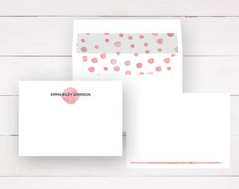 Personalized Stationery Set - Flat Note Cards + Lined Envelopes (Sets of 10) / Personalized Note Cards / Note Cards / Note Cards