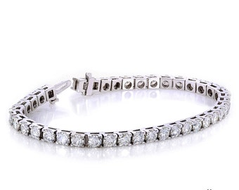 10k White Gold 10ct Moissanite Tennis Bracelet