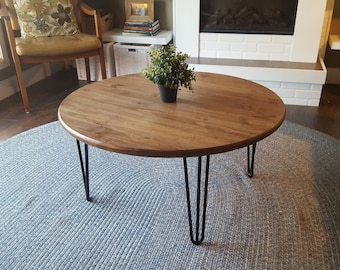 Round Metal Coffee Table Etsy