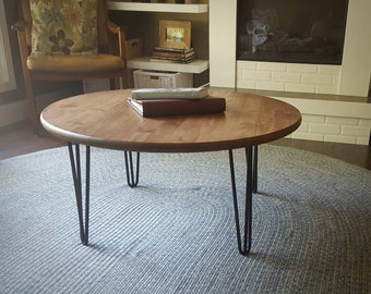 Round Coffee Table Etsy - Pb coffee table