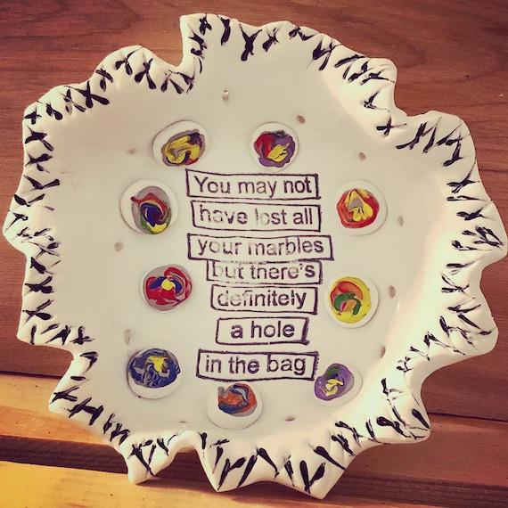Clay trinket dish, tabletop decor, trinket dish, key dish, funny trinket dish