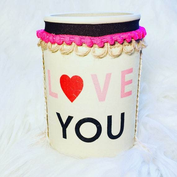 Lighted love jar, love you jar, lighted jars, lighted bottles, valentines mason jar, Valentine's jars, jar lights