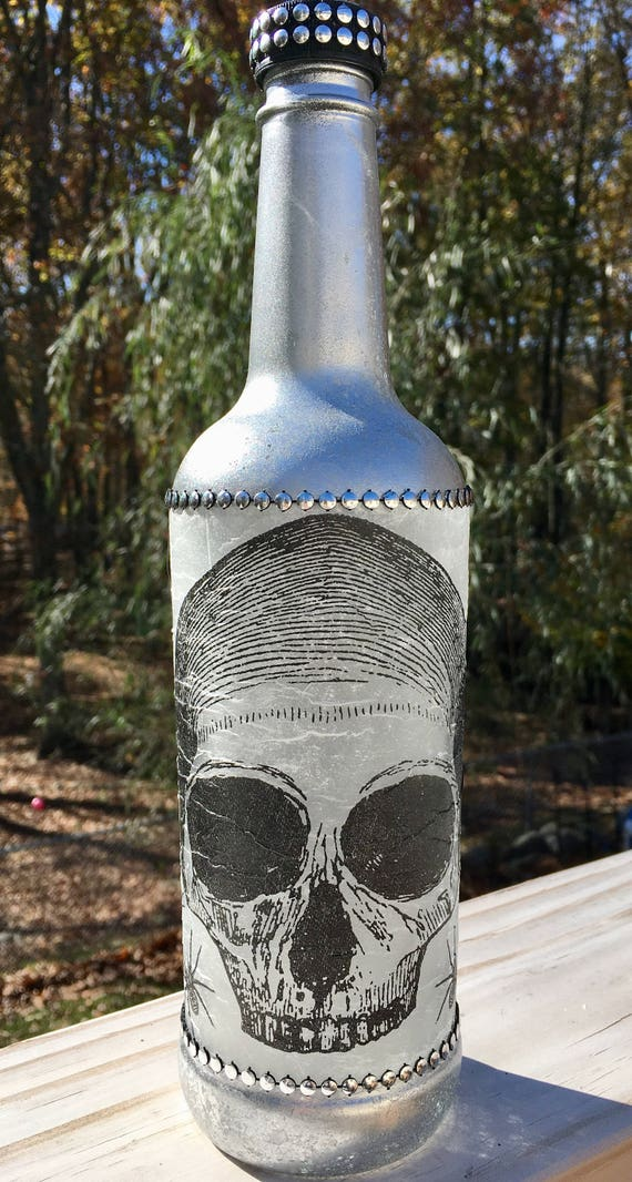 Silver lighted wine bottles, skeleton bottle, wine bottle light, lighted bottles, mason jar lights