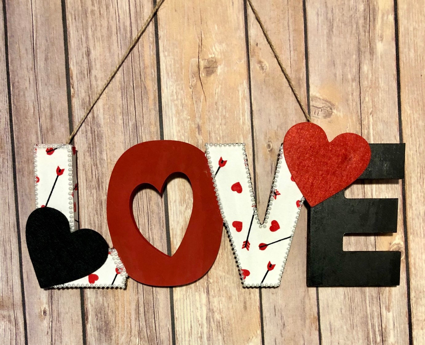 Love wall hanging sign, wooden sign decor, love sign
