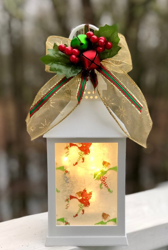 Christmas fairy lighted led lantern, lighted jars, lighted bottles, jar lights, Christmas decor, led Christmas lanterns, led lanterns
