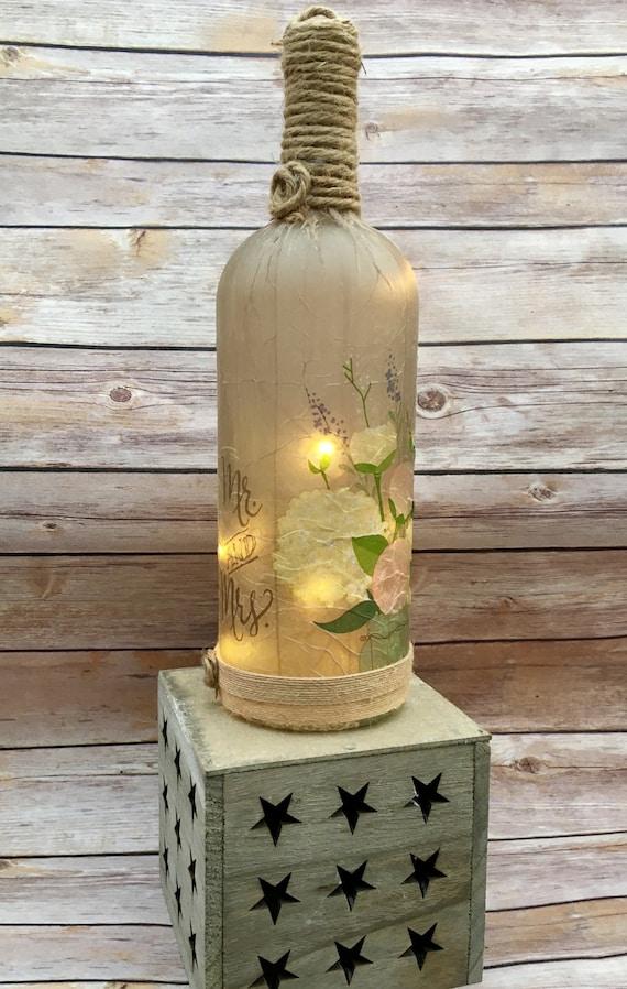 Rustic Wedding Bottle Rustic Wedding Wedding Centerpieces Etsy