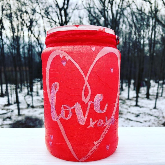 Love lighted jar, lighted jars, lighted bottles, jar lights, valentines jars, lighted valentines jars, valentines decor