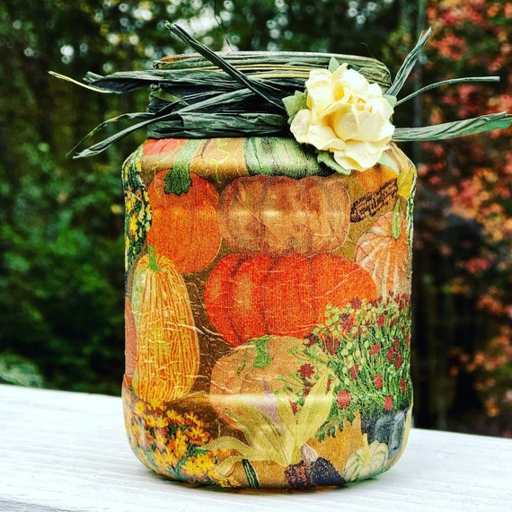 Pumpkin patch lighted jar, lighted jars, lighted bottles, jar lights, pumpkin jars, fall decor, fall jars