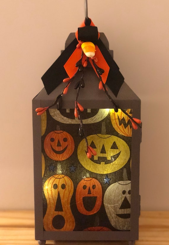 Halloween led lantern, lighted bottles, lighted jars, jar lights, led lantern, pumkin light