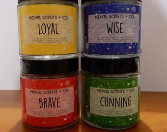 WITCHCRAFT & WIZARDRY SCHOOL (set of 4 candles or 4 bookmarks) | Harry Potter inspired