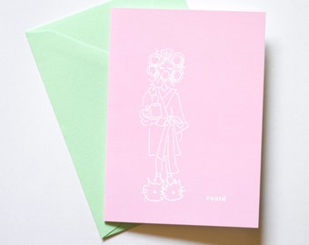 OOTD Greeting Card Folded A6 Stationary