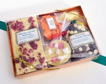 Box of chocolate, corporate gift, subscription box, chocolate selection box, chocolate assortment