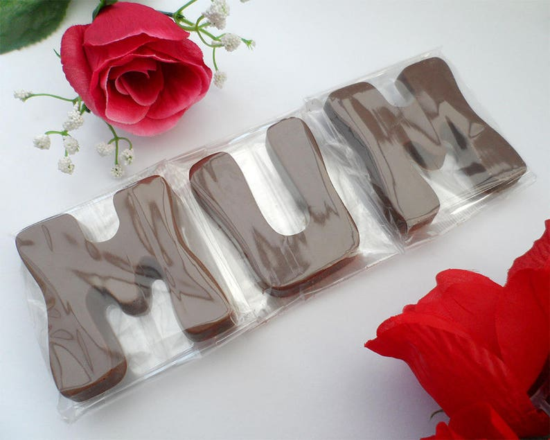 Mum Birthday Gift Mothers Day Chocolate Letters Large Edible image 0