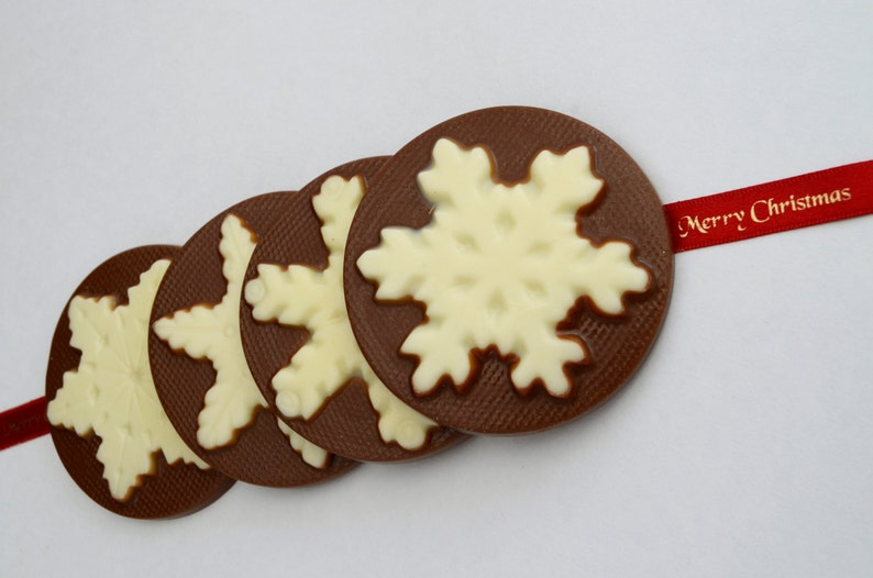 Chocolate Christmas Tree Decorations Snowflake Xmas Ornament image 0