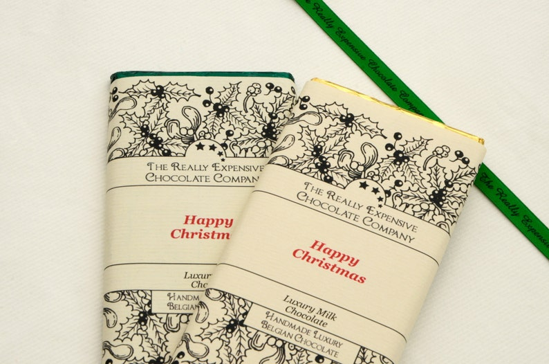 Personalised Happy Christmas Chocolate Bars Custom Christmas image 0