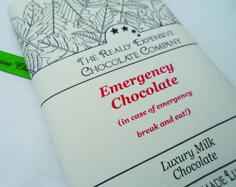 Emergency Chocolate Gift, New Job Emergency Chocolate, Stress Relief Gift, Starting University, Gift for Student, Exam Good Luck Gift