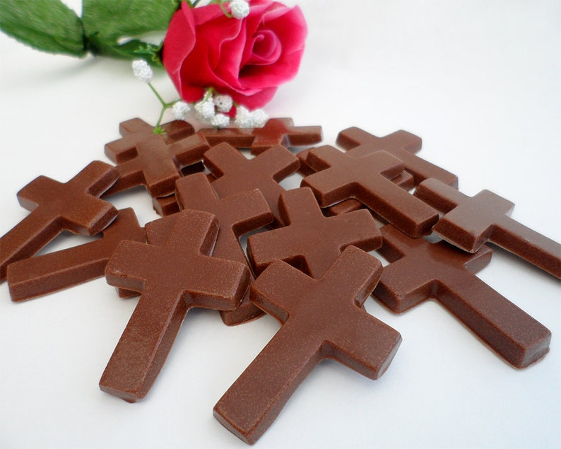 Easter Chocolate Crosses Milk Chocolate Cross Gift Favour image 0