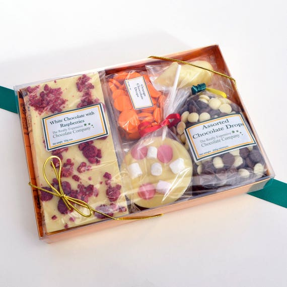 624db6a849d91d Box of chocolate corporate gift subscription box chocolate   Etsy