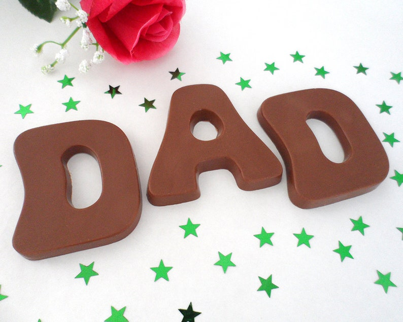 Dad Birthday Gift Fathers Day Milk Chocolate Letters Dad image 0