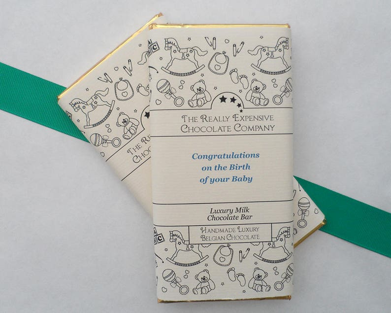 New Baby Boy Gift New Baby Customised Chocolate Bar New image 0