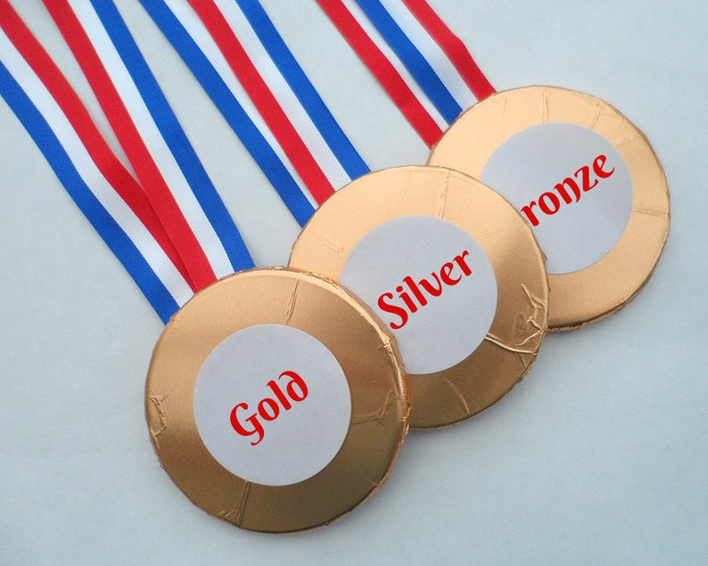 Chocolate Medals School Sports Award Achievement Gift image 0
