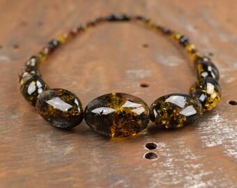 Cadeau de Pure fait main naturel ambre ambre charmant collier Bijoux poli  brillant Nice perles de la Baltique ambre Collier Baltique mer pour elle