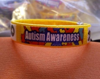 autism awareness bracelet easy to put on Shipping included