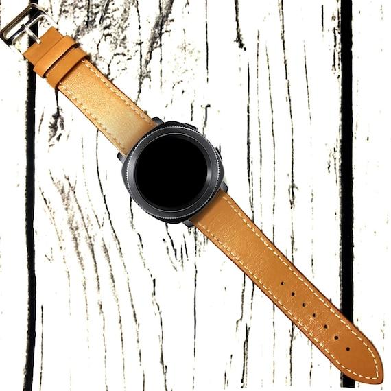 Samsung Gear Sport Watch Straps Genuine Leather Brown 20mm  ac704ac8a9