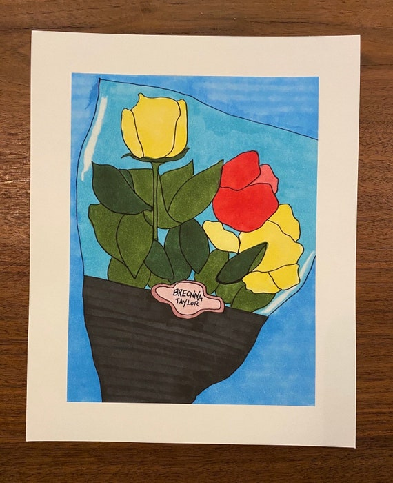 Flowers For Breonna Taylor 8x10 Etsy