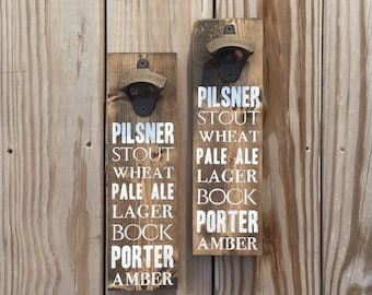 Beer Types Bottle Opener